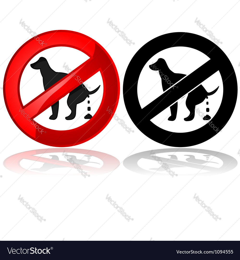 No dog poop vector