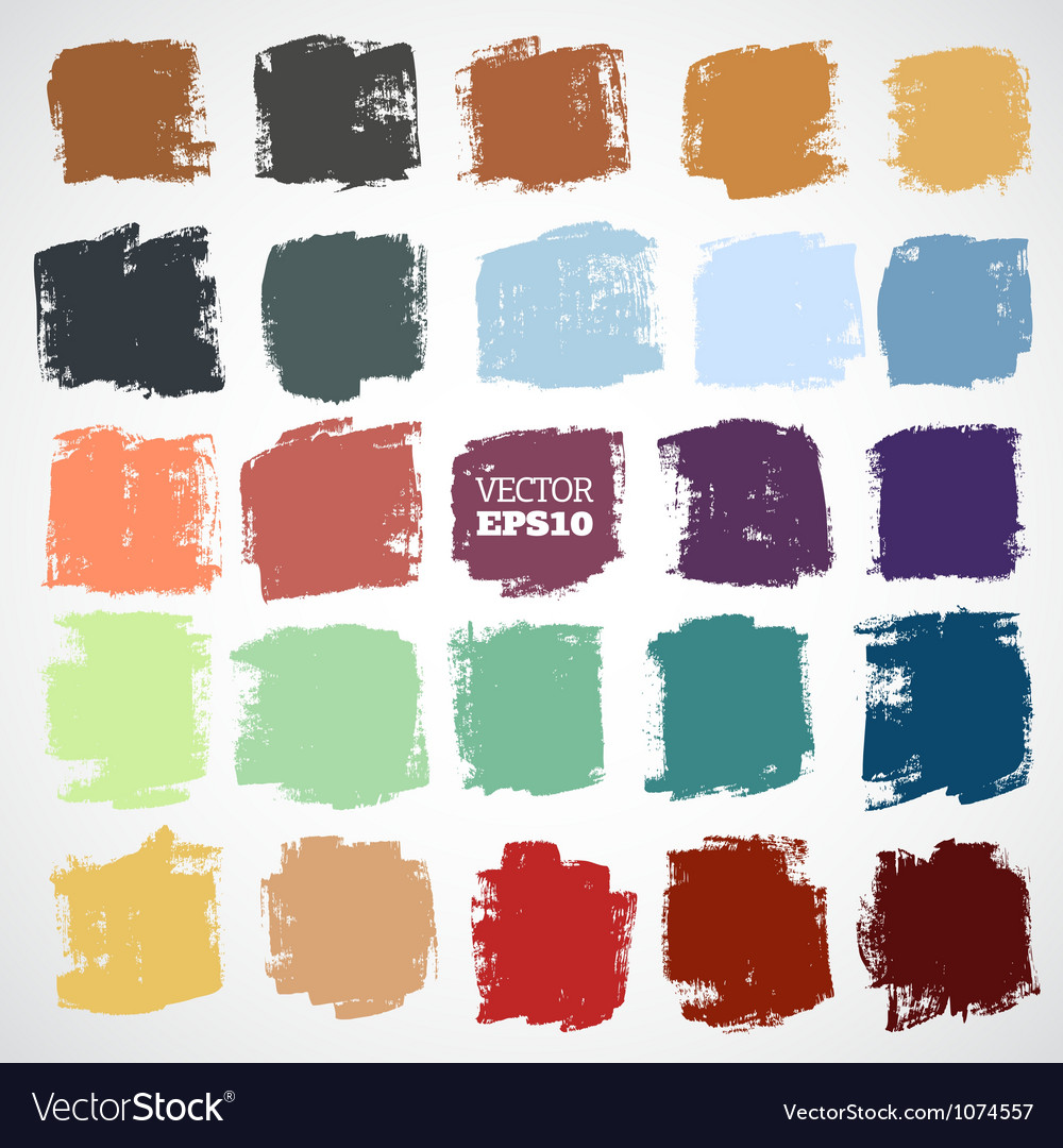 Abstract handpainted square backgrounds vector