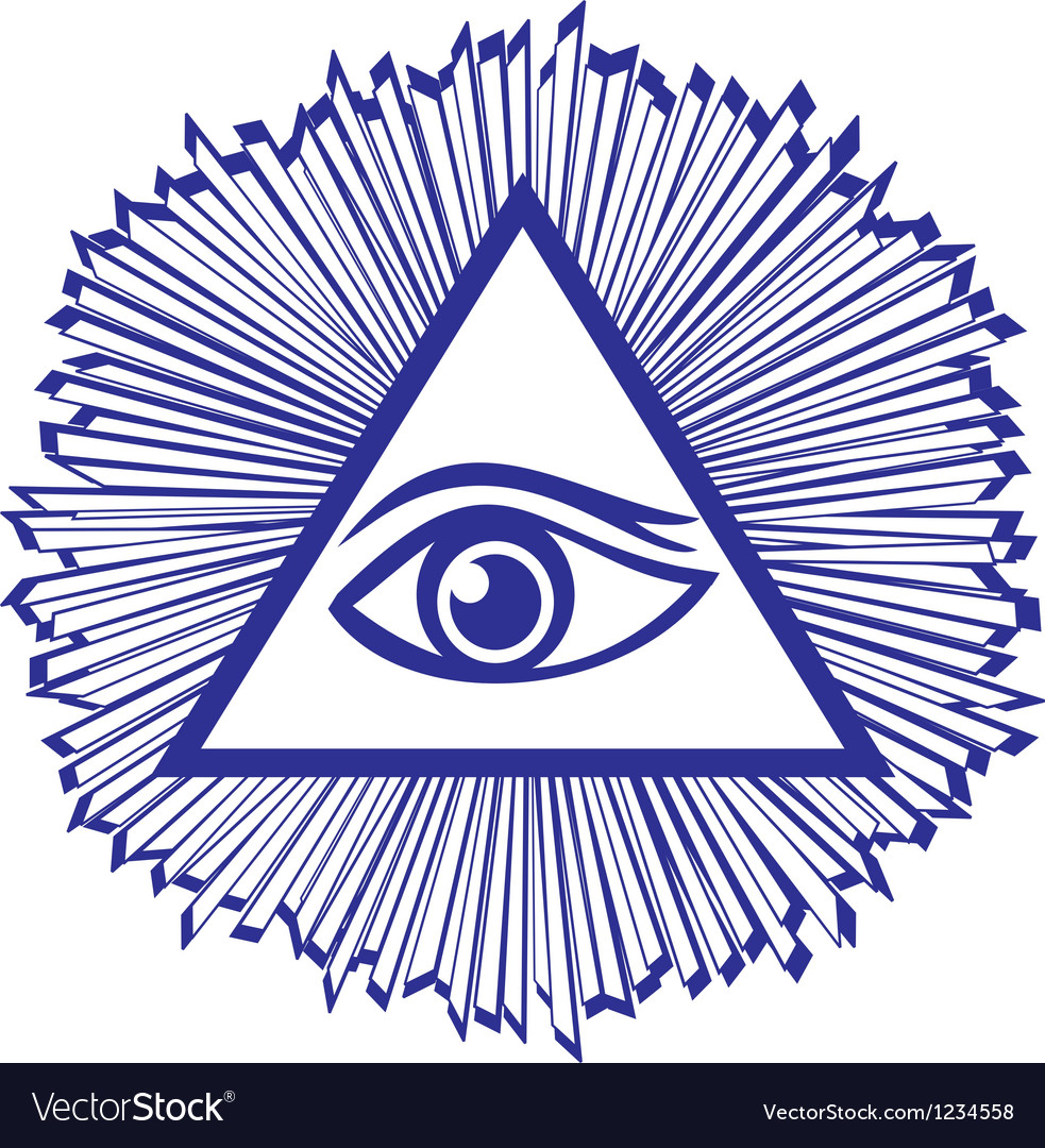 Eye of providence or all seeing eye of god  famou vector