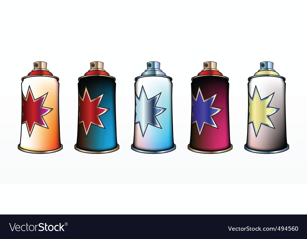 Spray aerosol set vector