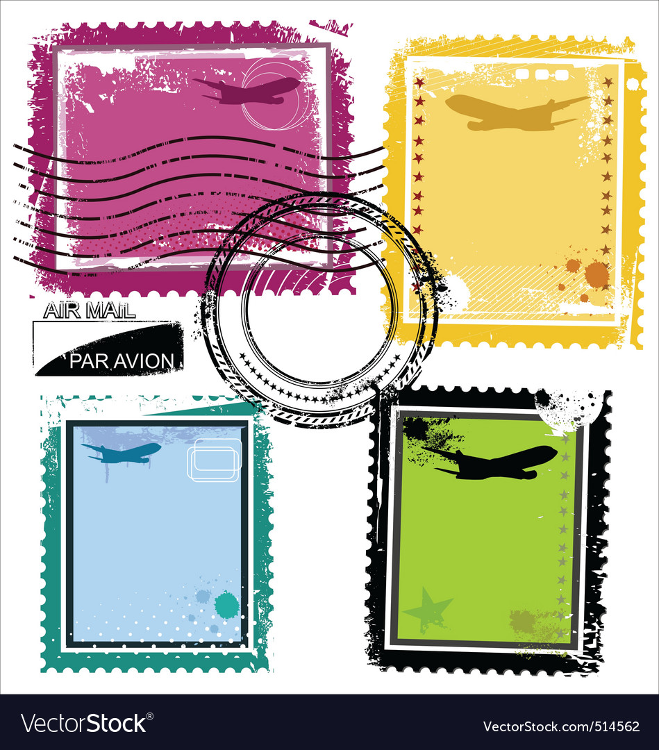 Grunge stamps vector