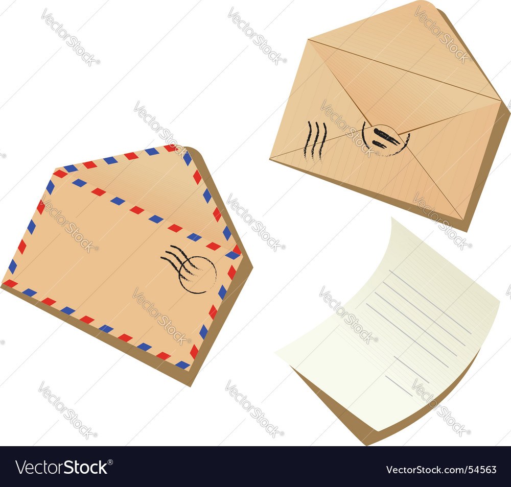Letter and envelopes vector