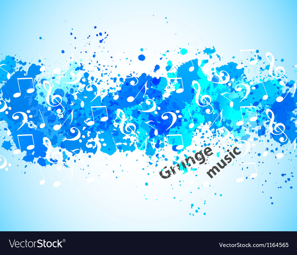 Grunge music background vector