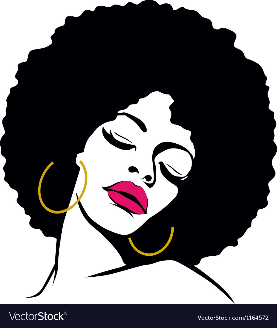 Afro woman vector