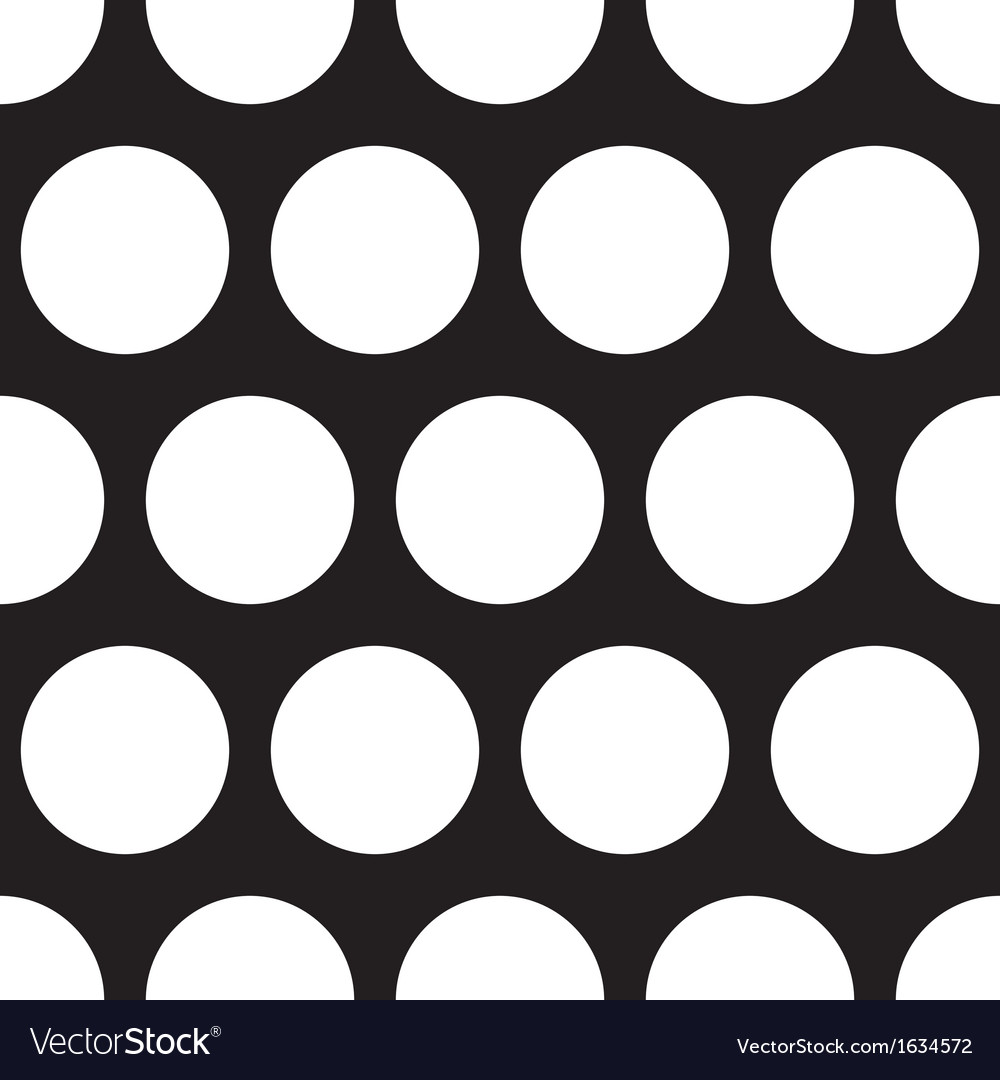 Seamless dark pattern with big white polka dots vector