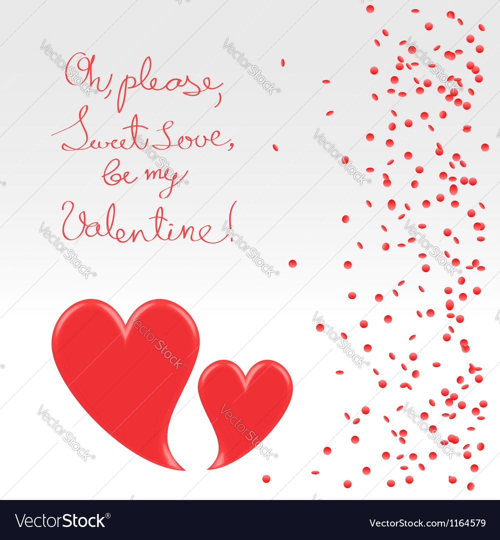 Sweet plea of valentine vector