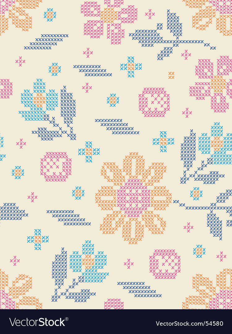 Floral fair isle vector by nannadesign image 54580 vectorstock