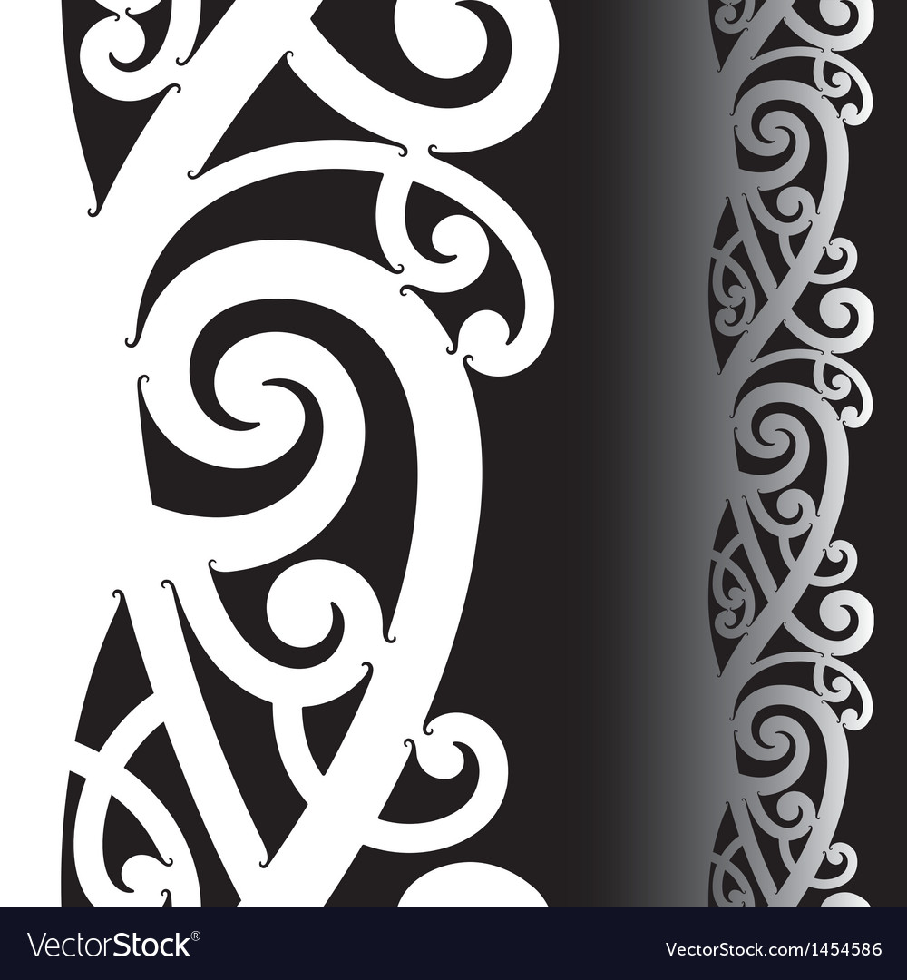 Maori tattoo pattern vector