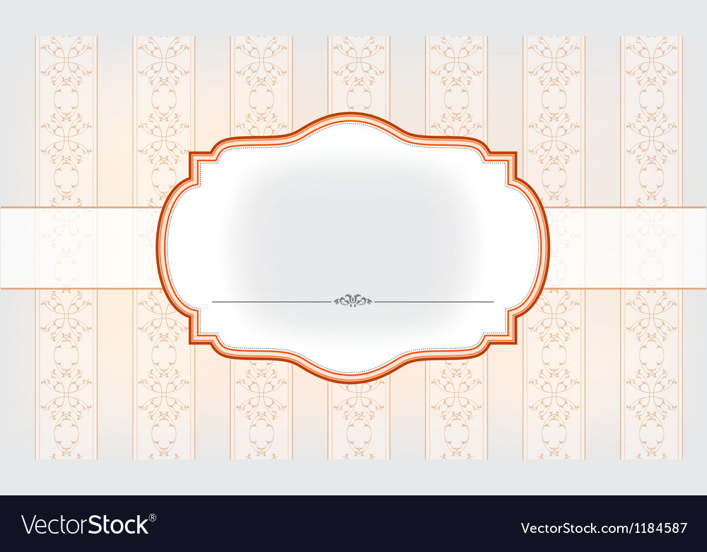 Banner on the beautiful background vector