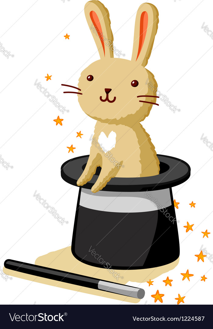 Bunny in a hat vector