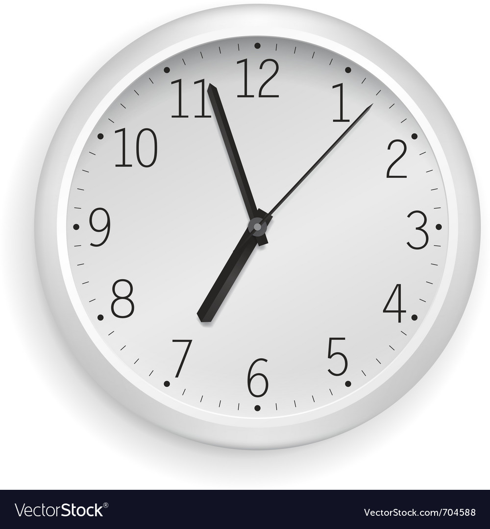 White clock vector