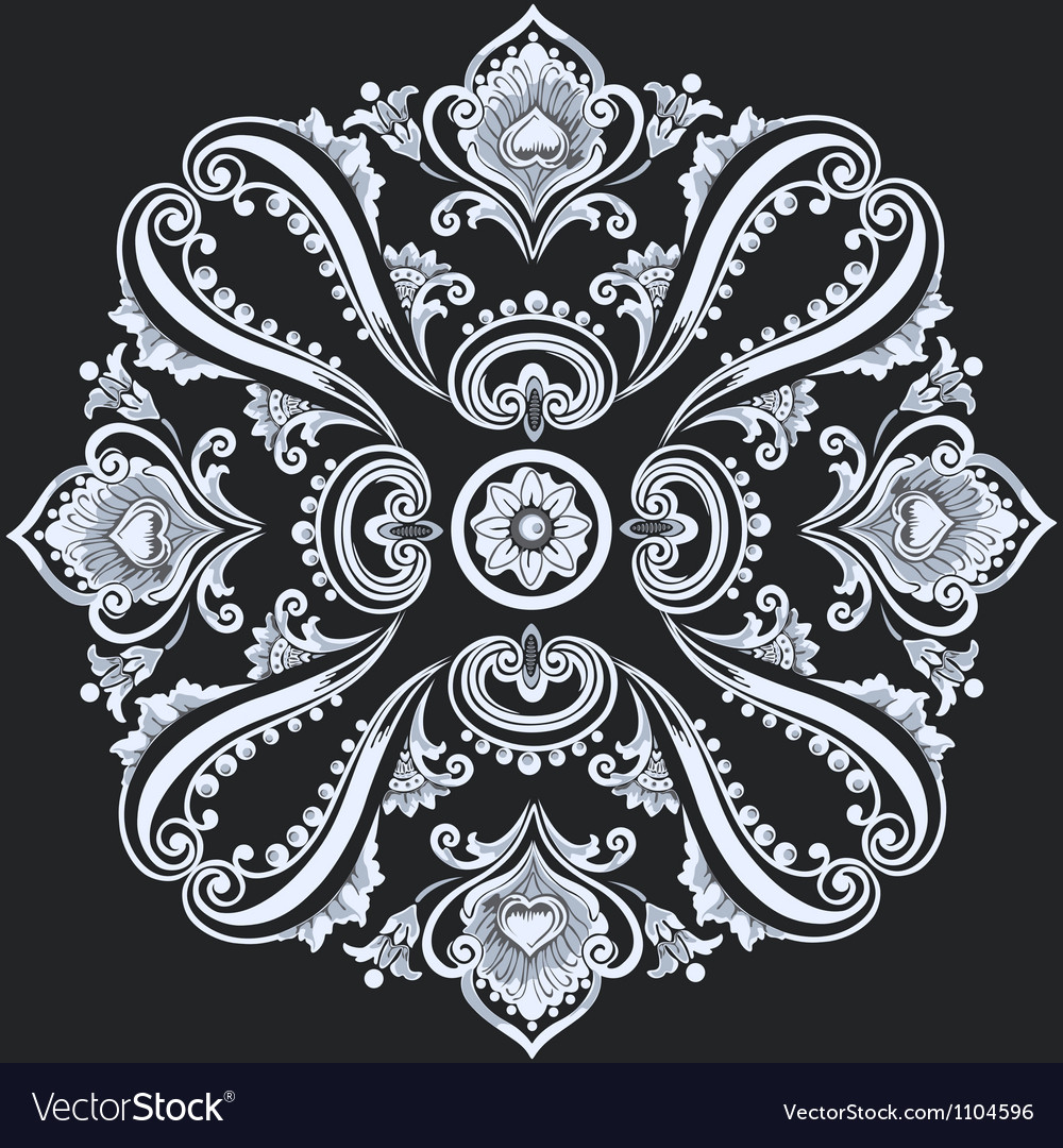 Floral ornament decorative flower and elements vector