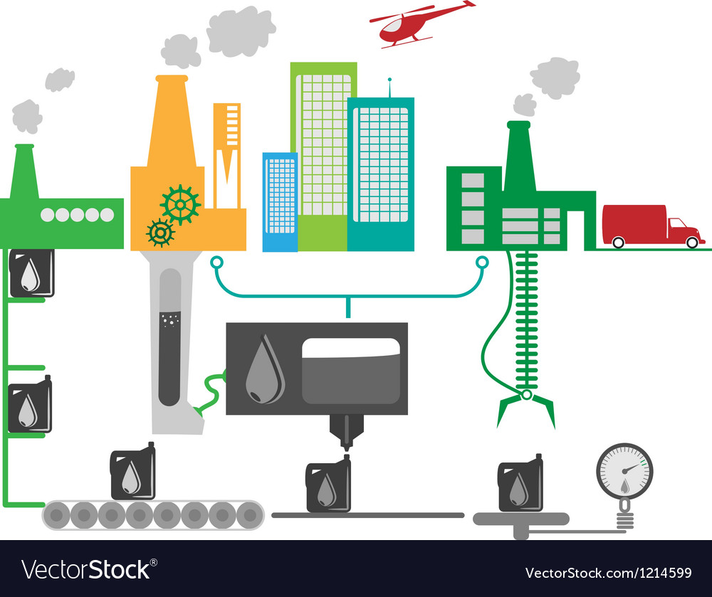 Industrial factory vector