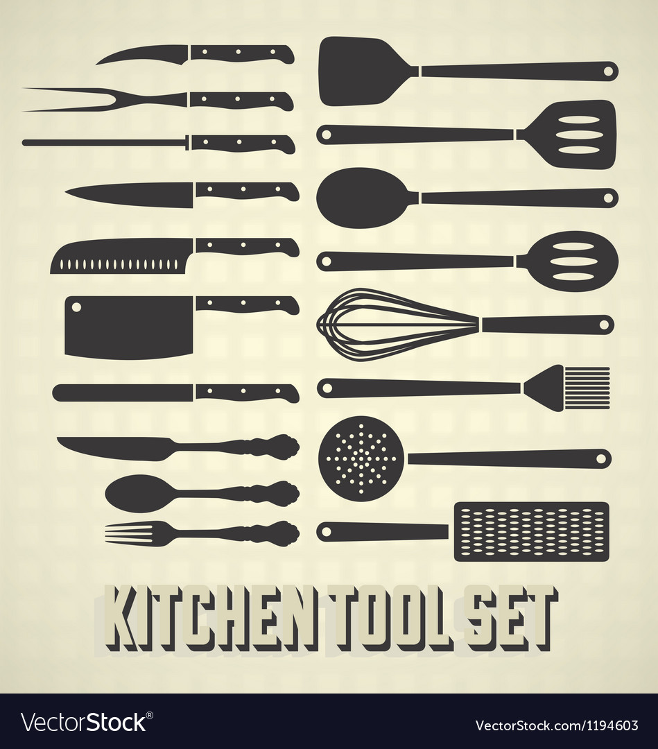 Kitchen tools set vector