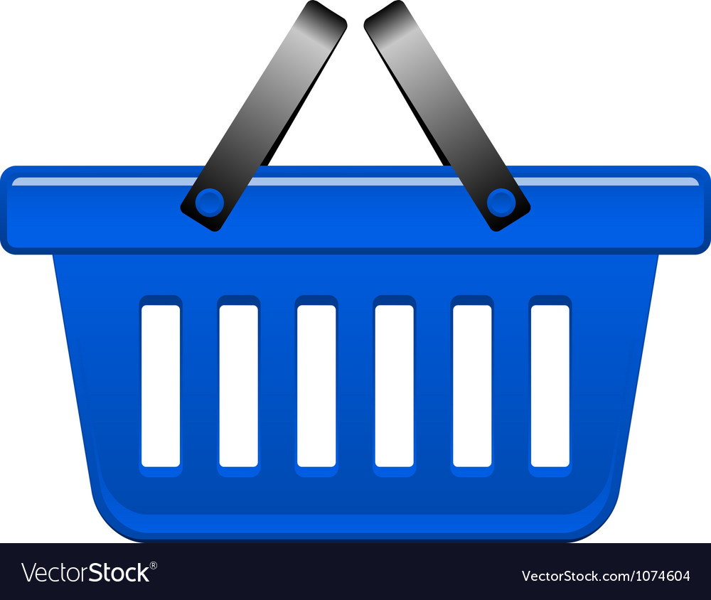 Blue basket vector