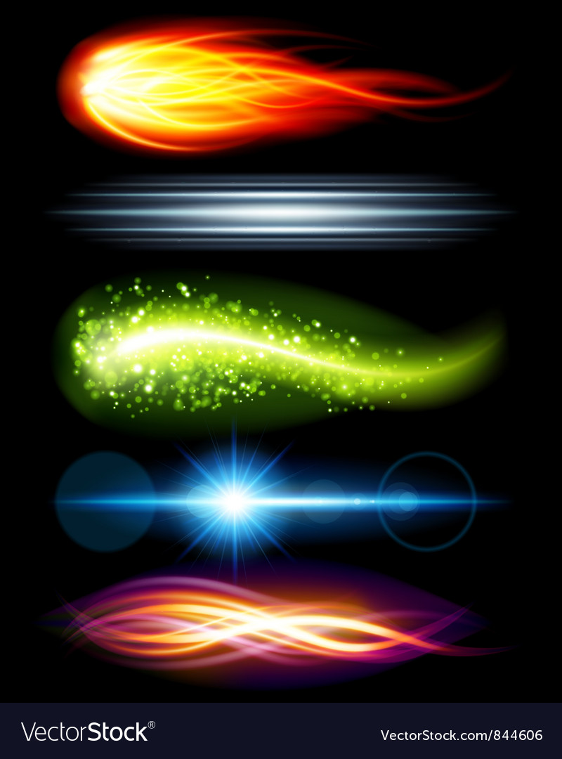 Abstract light beams vector