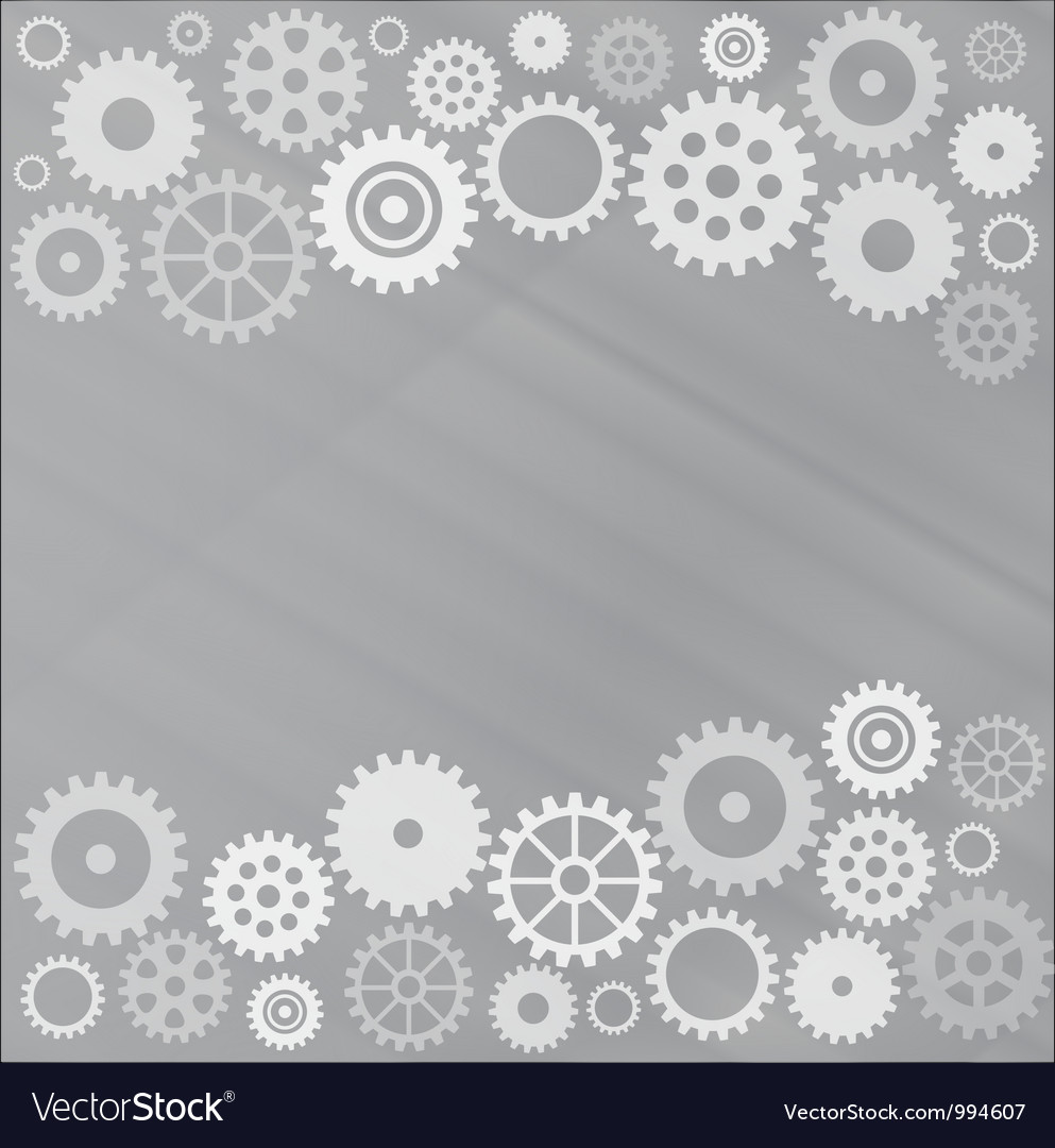 Grey gear background vector
