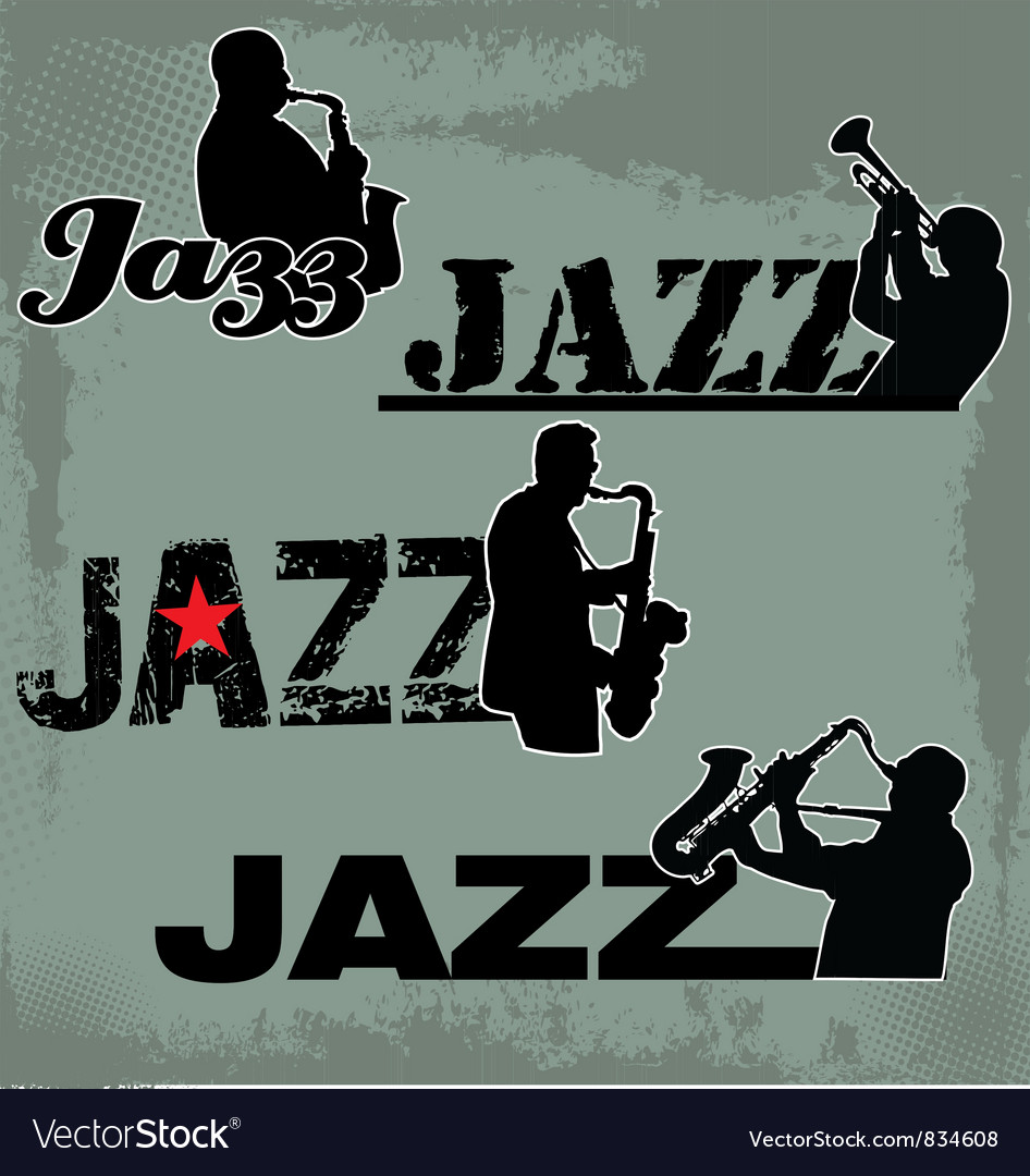 Jazz music headline vector