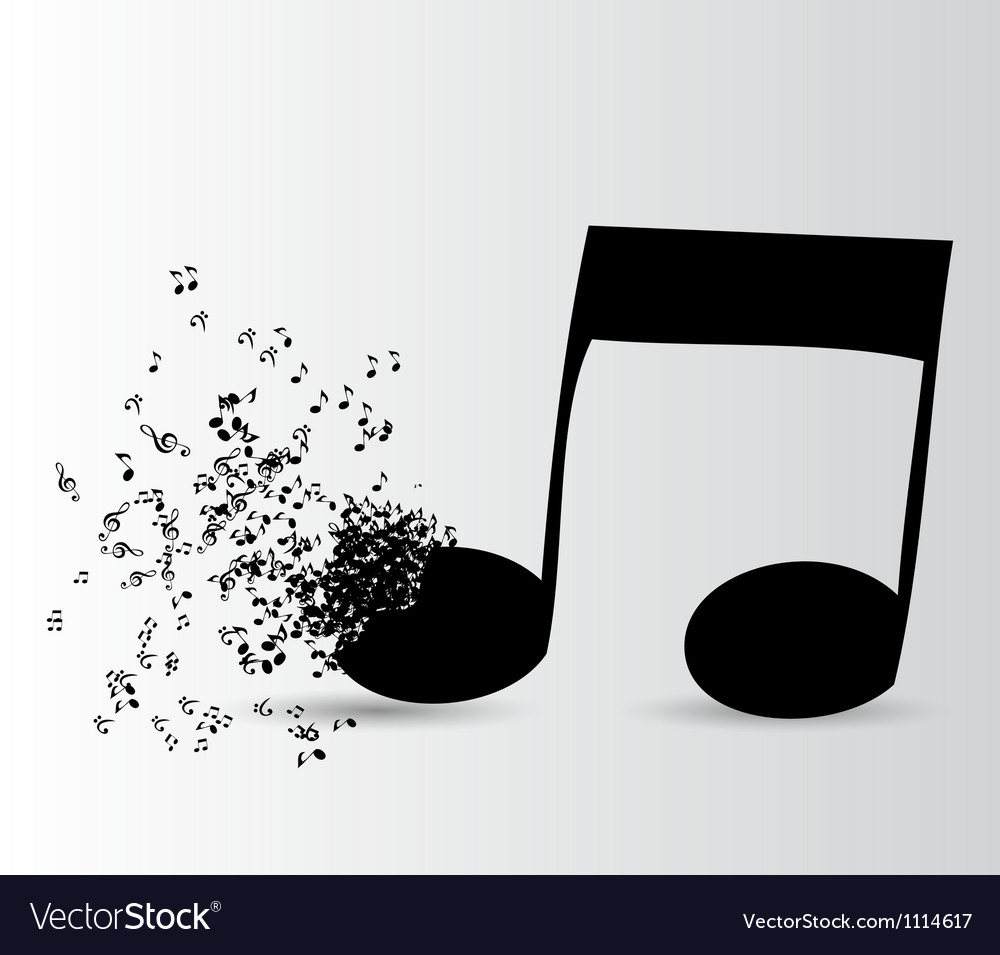 Abstract music background for your design vector
