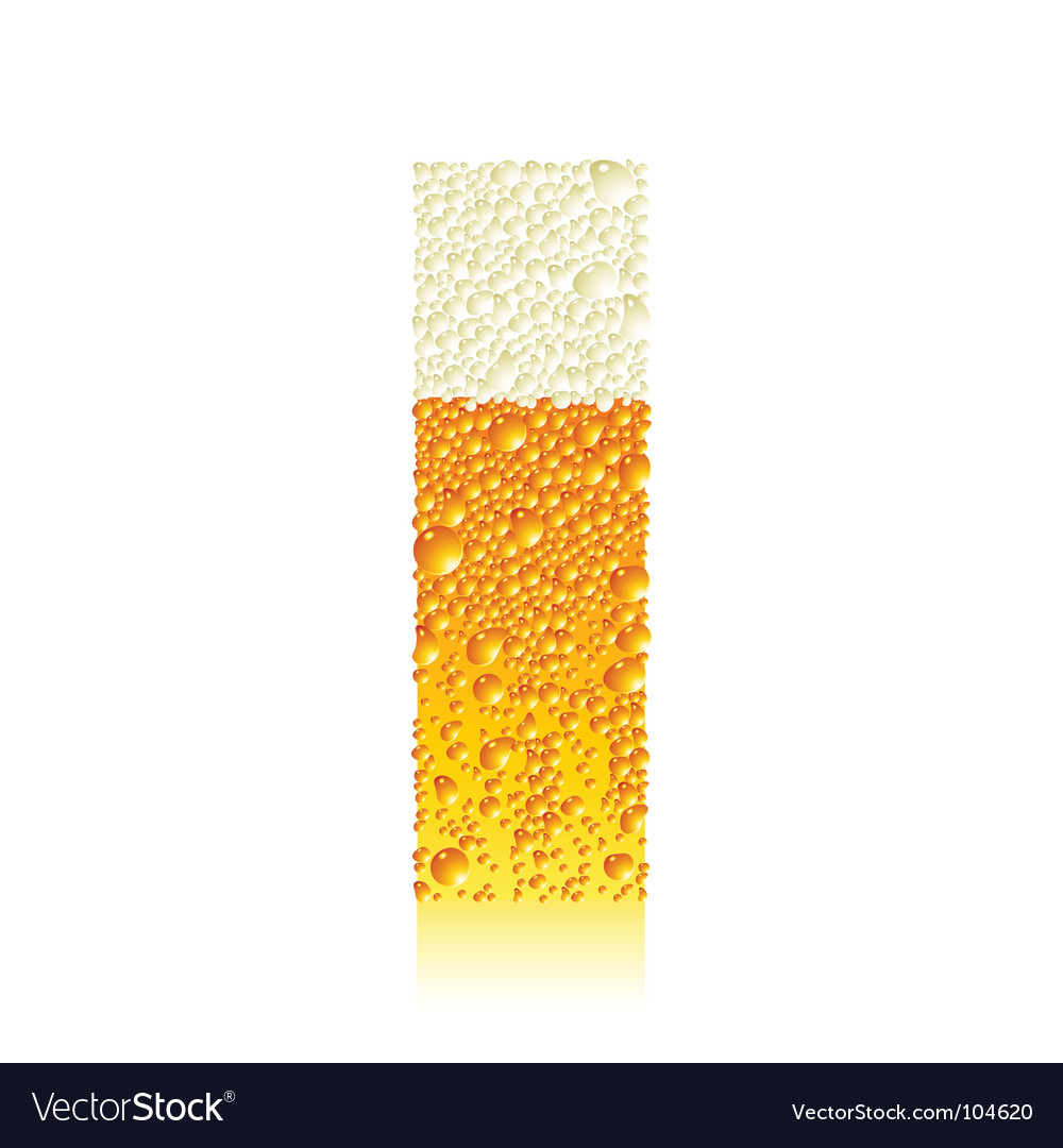 Alphabet beer i vector