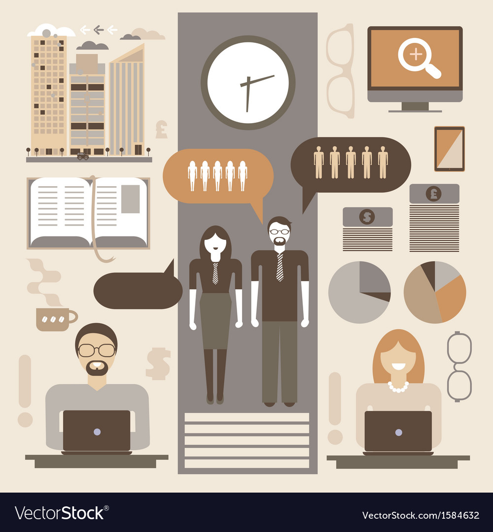 Office infographic vector