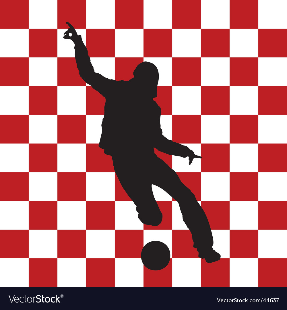 Football croatia flag vector