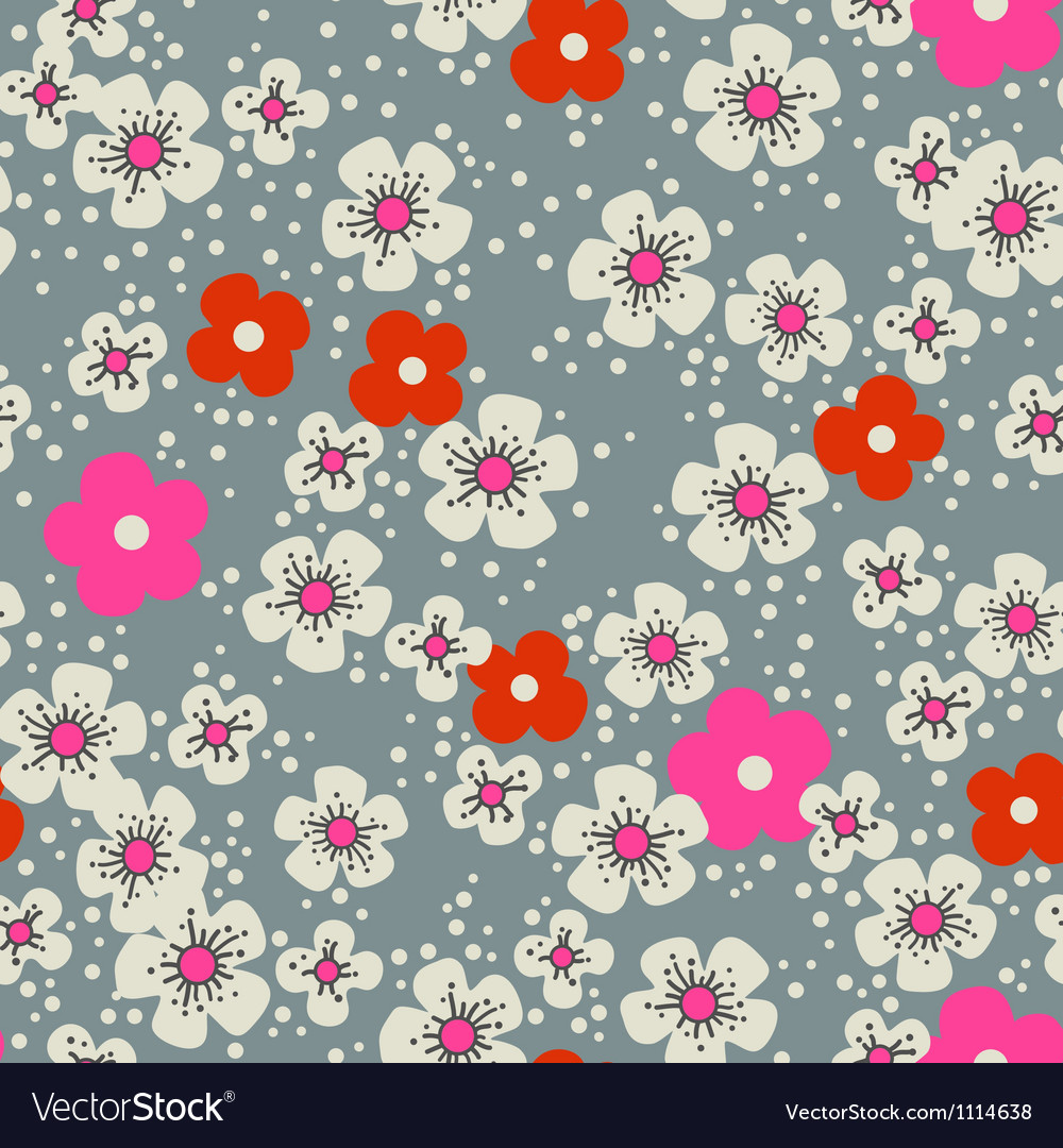 Cherry blossom seamless background vector