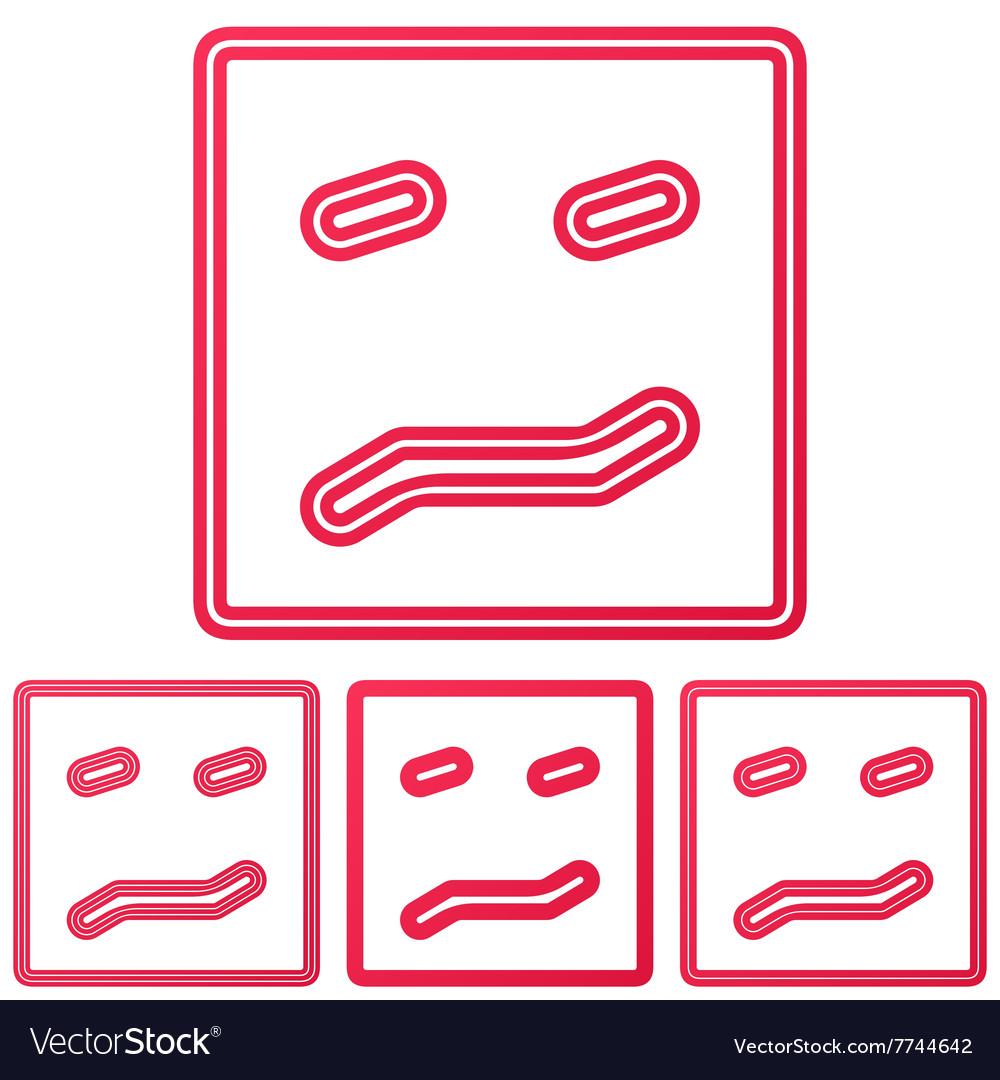 Crimson line confusion logo design set