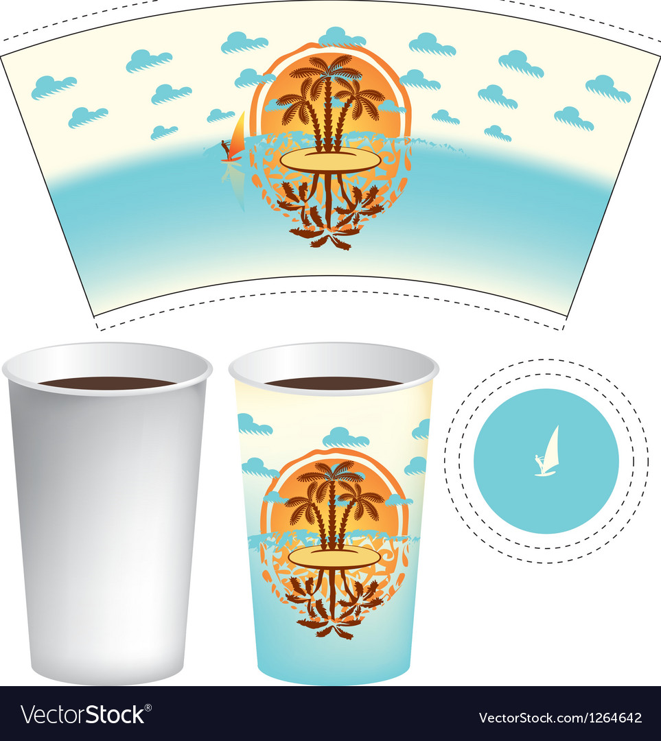 Cup of tea or coffee vector