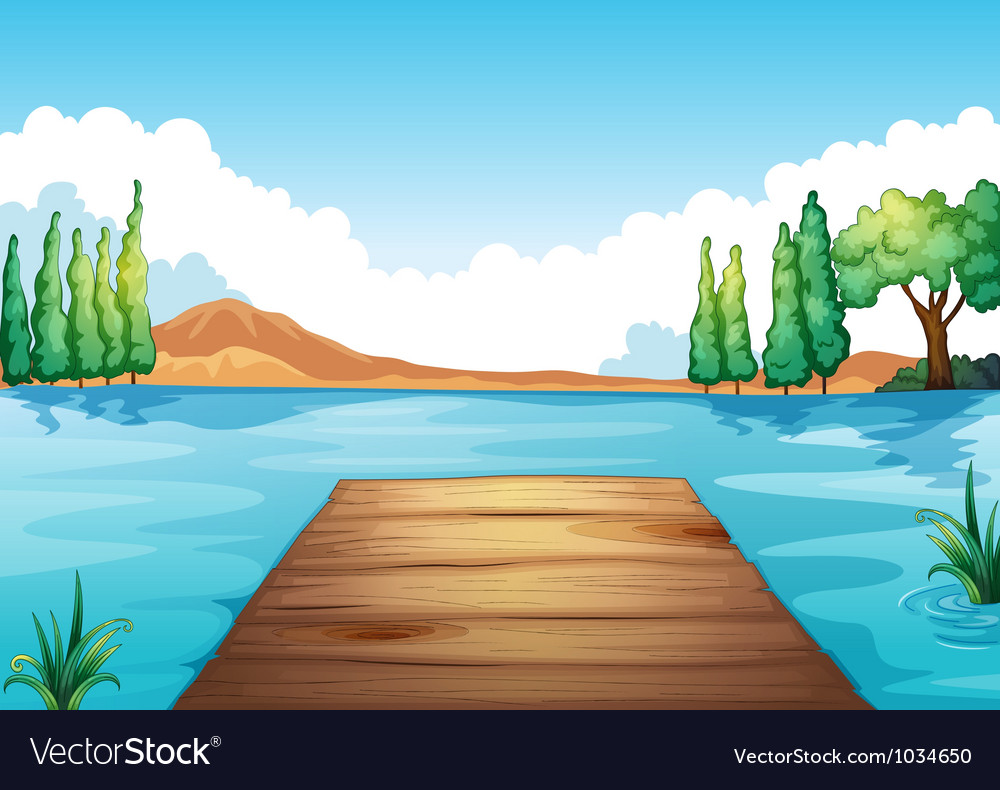Water and bench vector