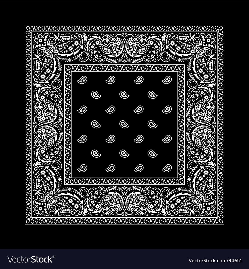 Black Bandana Design