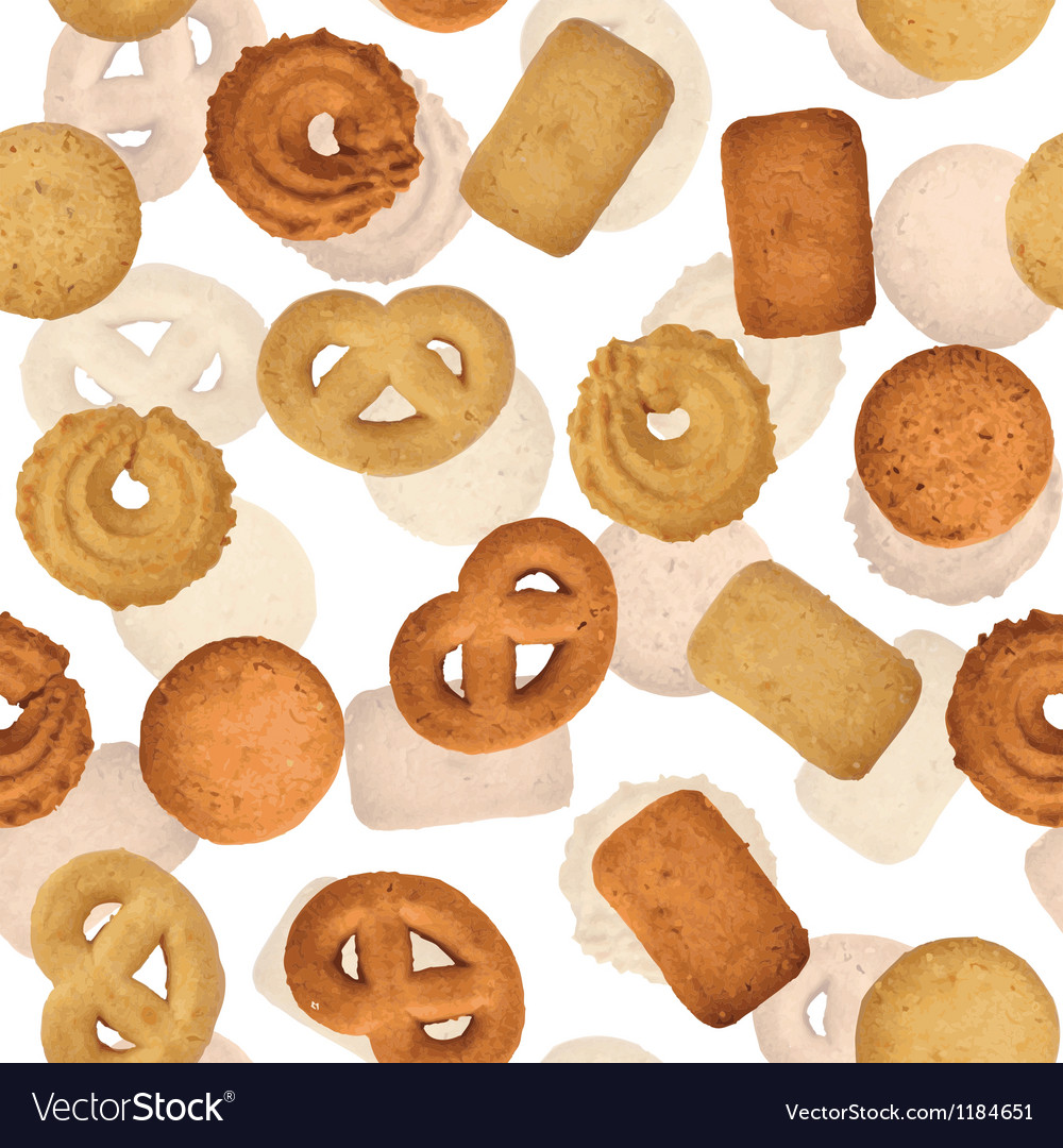 Danish butter cookies vector