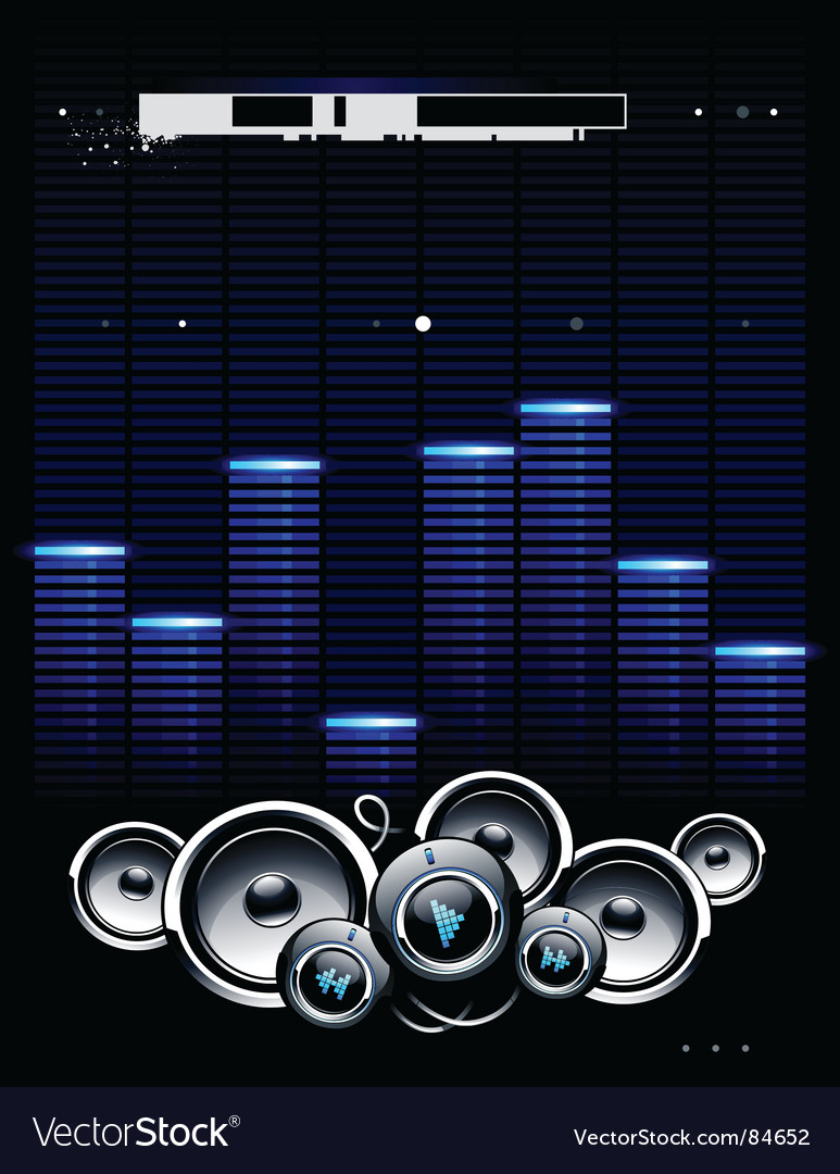 Speakers futuristic background vector
