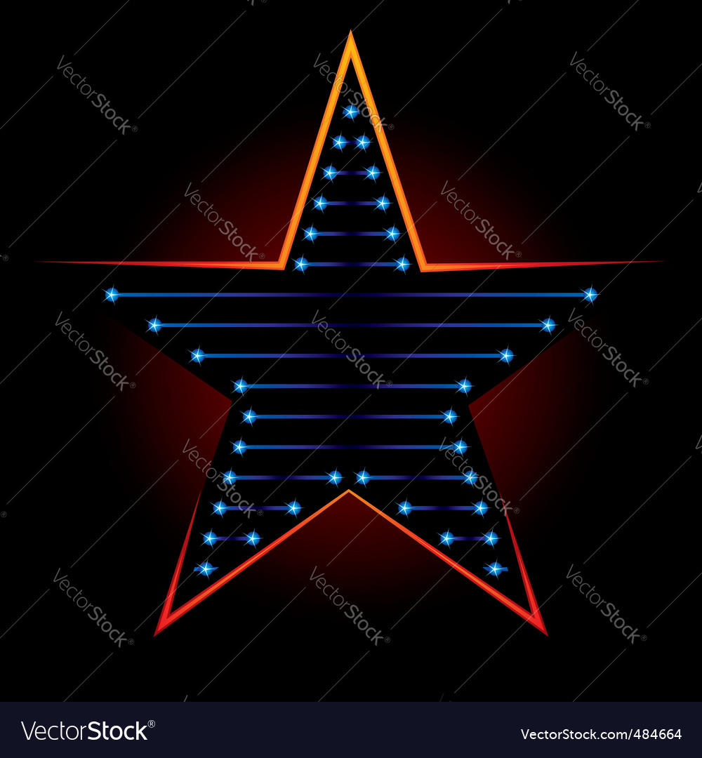 Blue star vector