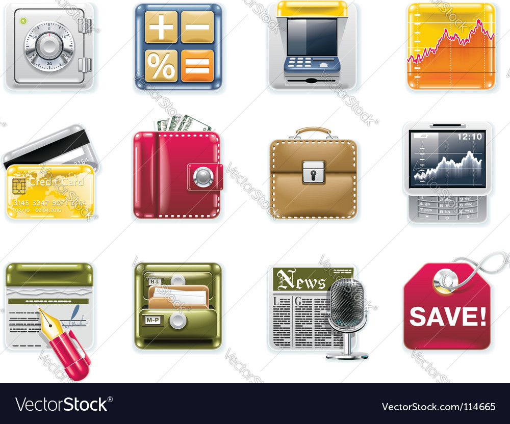 Universal square icons vector