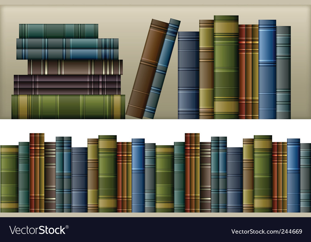 Vintage books vector