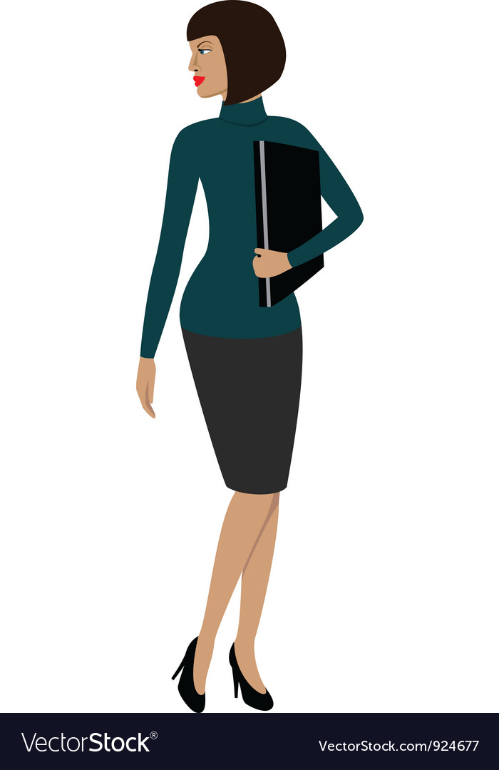 A woman in a office vector