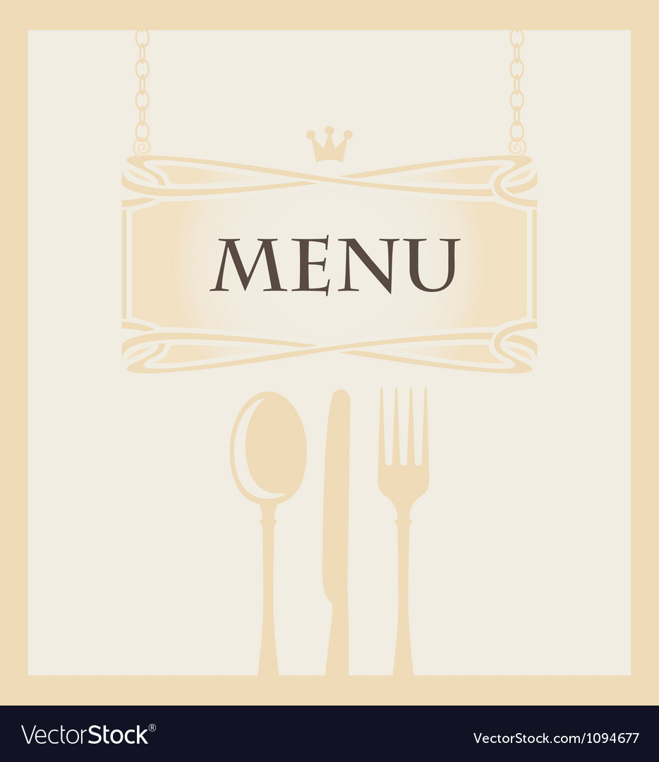 Cutlery and a crown vector