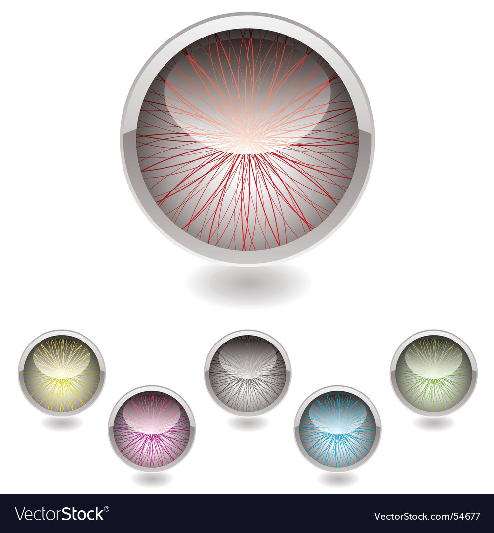 Iris button collection vector