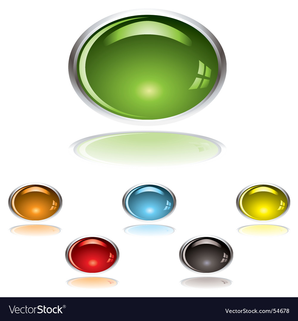 Lozenge gel button vector