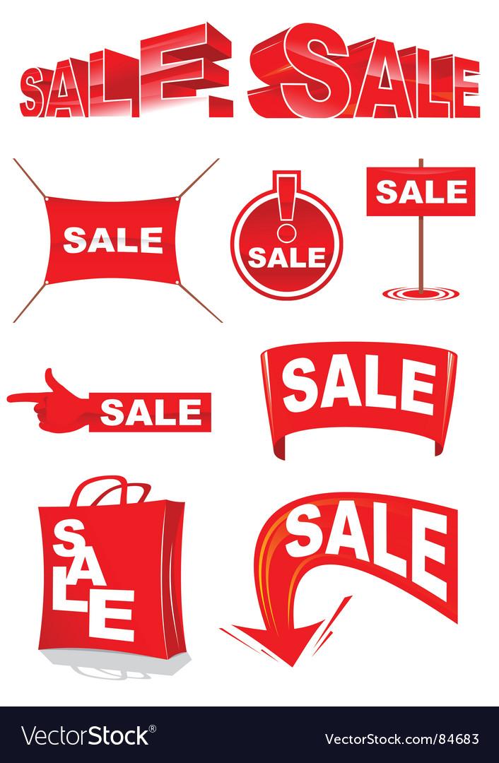 Sale vector by Andrewshka - Image #84683 - VectorStock