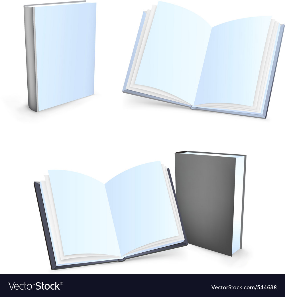 Blank books vector