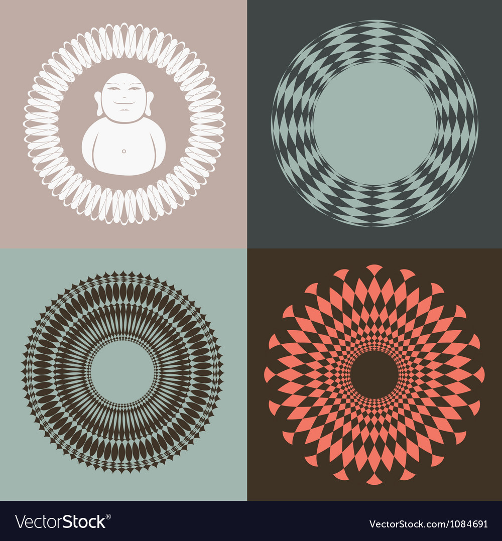 Optical collection with buddah vector