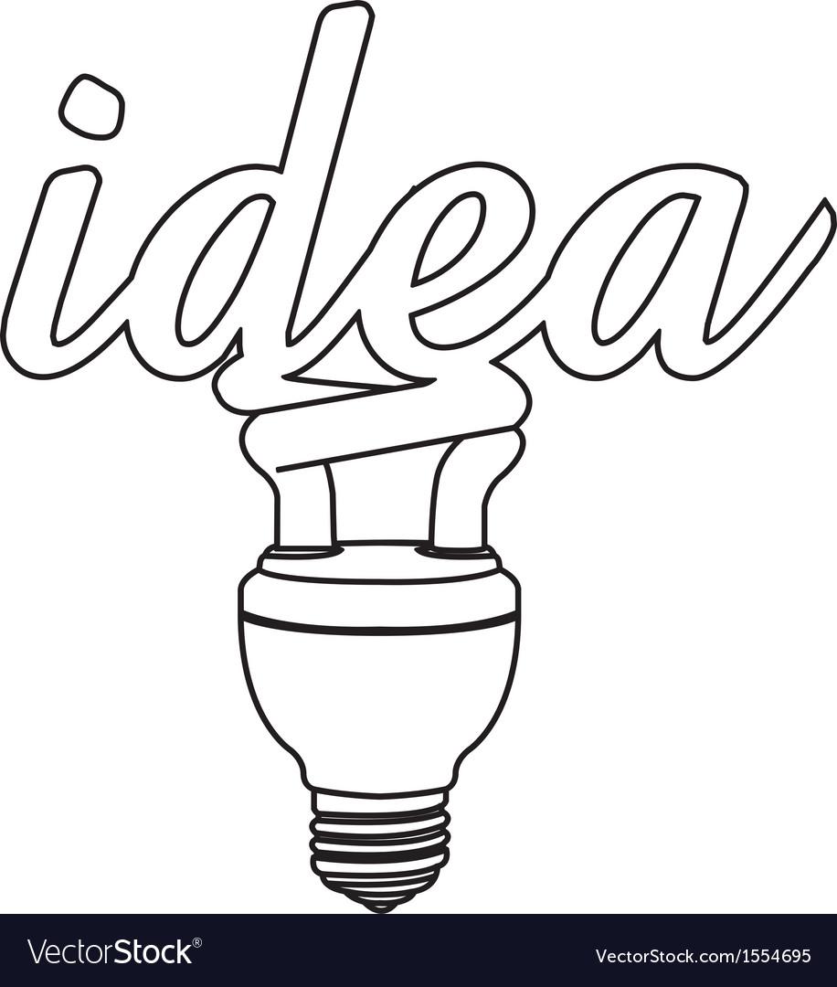 Light bulb idea outline vector by attaphong image 1554695
