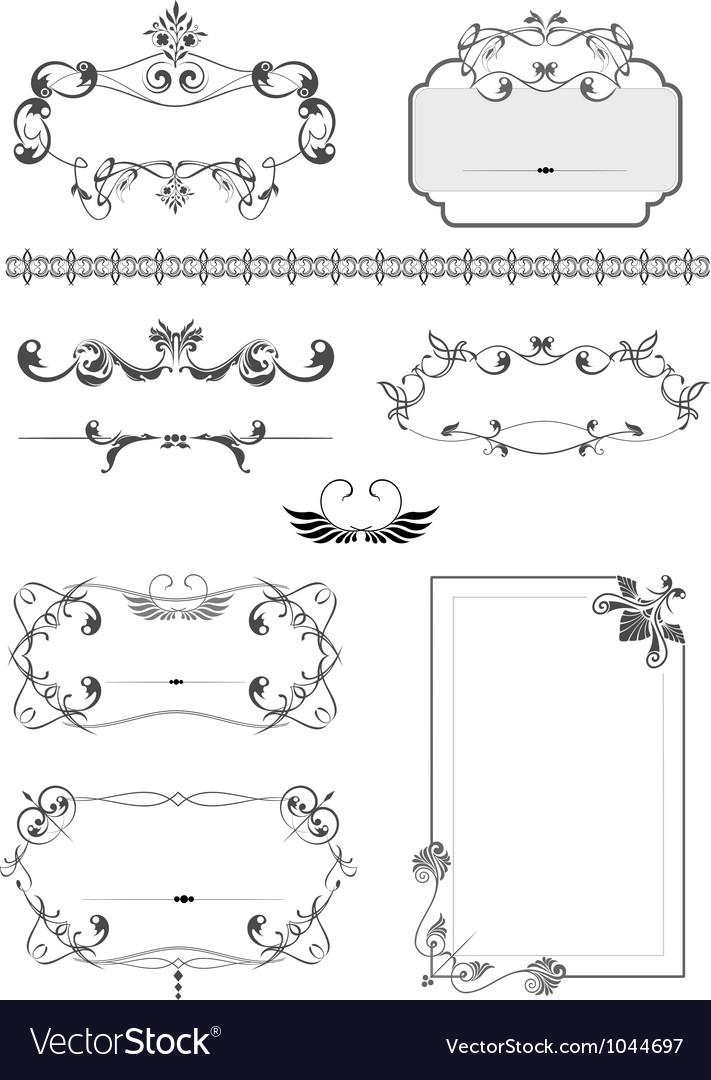 Vintage border frames vector by leonido - Image #1044697 - VectorStock