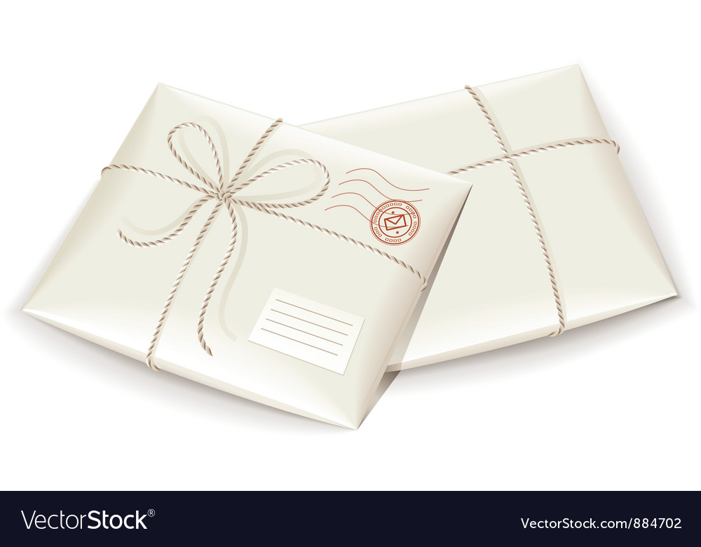 Parcel post tied with twine vector