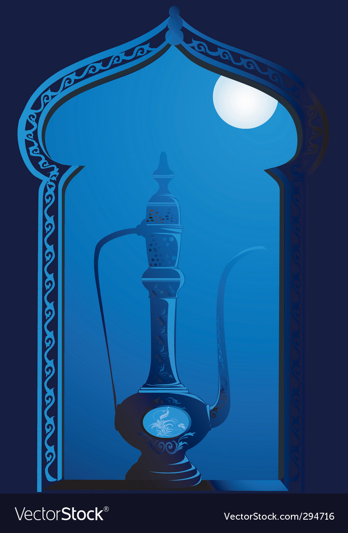 Hookah window vector