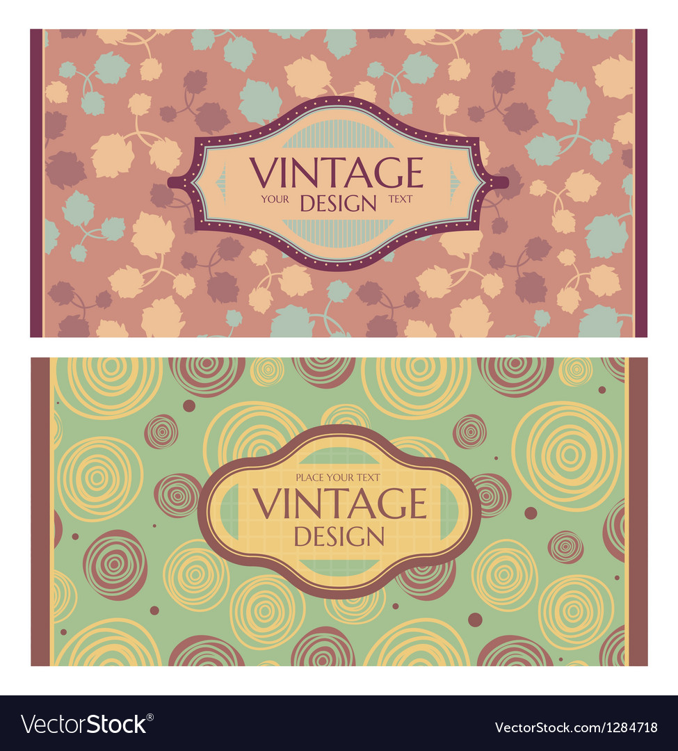 Frames in retro style vector