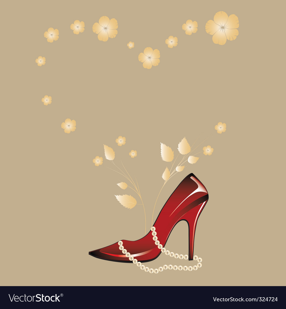 Womans shoe vector