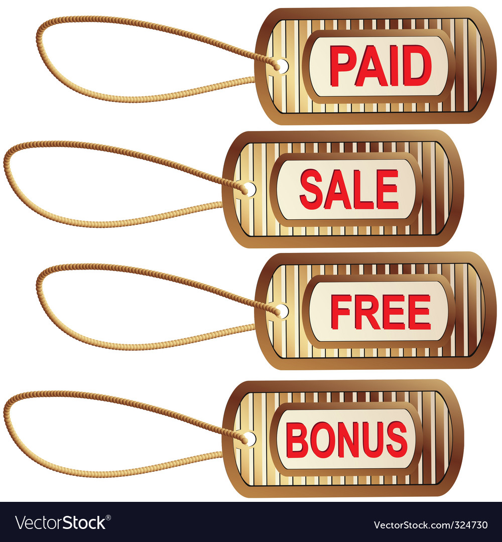Set of gold tags for best sales vector